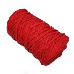 Sznurek bawełniany 5mm Makrama Czerwony - motek 100 metrów