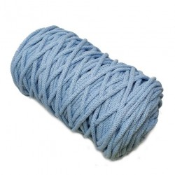 Sznurek bawełniany 5mm Makrama Błękitny  - motek 100 metrów