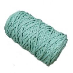Sznurek bawełniany 5mm Makrama Miętowy - motek 100 metrów