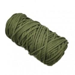 Sznurek bawełniany 5mm Makrama Oliwkowy/khaki - motek 100 metrów