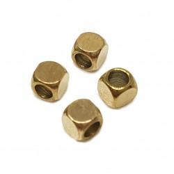Przekładka kostka 4x4x4mm stal nierdzewna - złoty