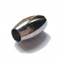 Zapięcie magnetyczne 8mm stal nierdzewna - platynowy