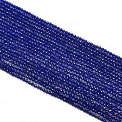 Szafir 2mm fasetowana kulka sznur