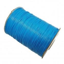 Sznurek jubilerski powlekany topliwy 1mm niebieski - 4m