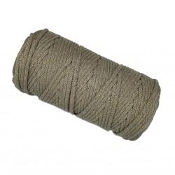 Sznurek bawełniany 5mm Makrama Mokka - motek 100 metrów
