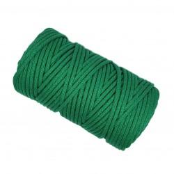 Sznurek bawełniany 5mm Makrama Zielony  - motek 100 metrów