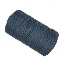 Sznurek bawełniany 5mm Makrama Jeans - motek 100 metrów
