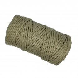 Sznurek bawełniany 5mm Makrama Ciemny beż - motek 100 metrów