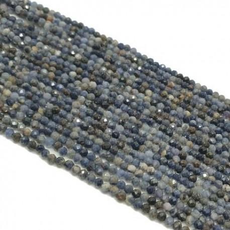 Szafir 2mm fasetowana kulka - sznur