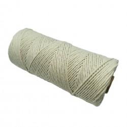 Sznurek bawełniany skręcany 3mm makrama naturalny - 200 metrów