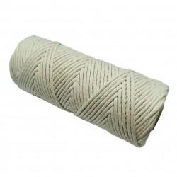 Sznurek bawełniany skręcany 5mm makrama naturalny - 100 metrów