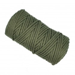 Sznurek bawełniany 5mm Makrama Oliwkowy - motek 100 metrów