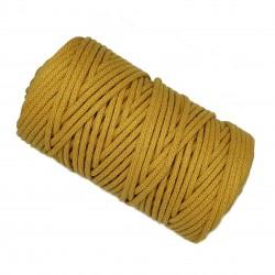 Sznurek bawełniany 5mm Makrama Musztardowy - motek 100 metrów