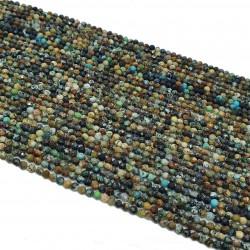 Turkus 2,5mm fasetowana kulka naturalny - sznur