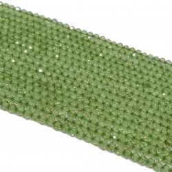 Oliwin / Peridot 2mm fasetowana kulka - sznur