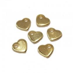 Zawieszka serce 6x5mm stal nierdzewna - złoty