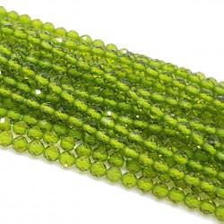 Kwarc 2mm fasetowana oliwkowy - sznur