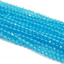 Kwarc 2mm fasetowana kulka niebieski - sznur