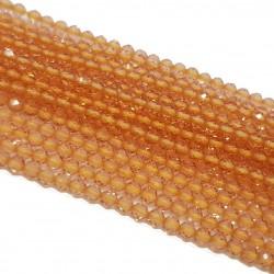 Kwarc 2mm fasetowana kulka łososiowy - sznur