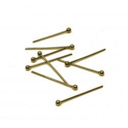 Szpilki jubilerskie z okrągłą główką 25mm stal nierdzewna złota - 10 sztuk