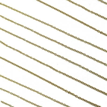 Łańcuszek stal nierdzewna 2,5x2x0,5mm - złoty