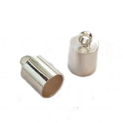 Końcówki do wklejania 5,5mm miedź - srebrny / 4 szt