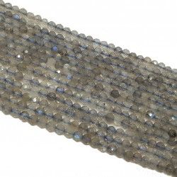 Labradoryt 3mm - 3,5mm fasetowana kulka sznur