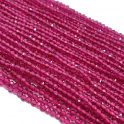 Rubin 2mm fasetowana kulka sznur