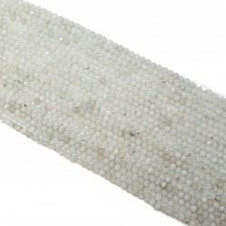 Kamień Księżycowy 3,5mm fasetowana kulka - sznur