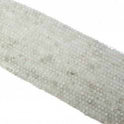 Kamień Księżycowy 3mm fasetowana kulka - sznur