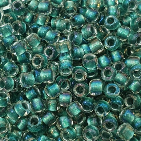 TOHO Round 8/0 TR-08-264 Inside-Color Rainbow CrystalTeal Lined - 10g