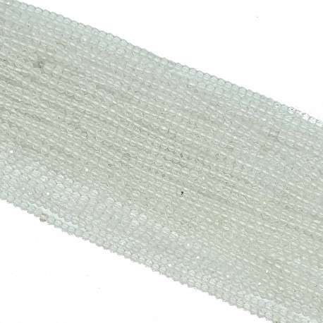 Kryształ górski 3mm fasetowana kulka - sznur