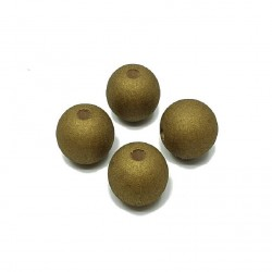 Koraliki drewniane 16mm lakierowane kulki - złote