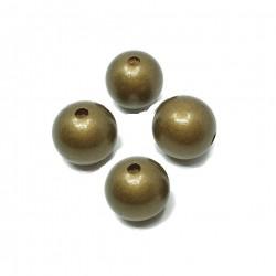 Koraliki drewniane 20mm lakierowane kulki - złote
