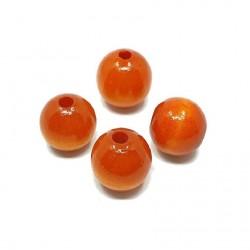 Koraliki drewniane 20mm lakierowane kulki - pomarańczowe