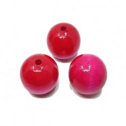 Koraliki drewniane 25mm lakierowane kulki - różowe