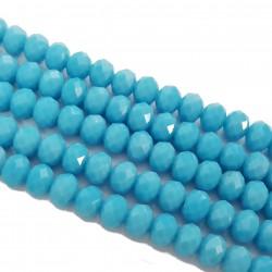 Szkło fasetowane 8x6mm błękit sznur